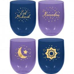 Eid Ramadan Plastic Tumbler Cups (Set of 4)