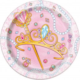 Pink Princess Small Plates (Pack of 8)