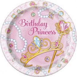 Pink Princess Large Plates (Pack of 8)