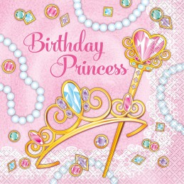 Pink Princess Large Napkins (Pack of 16)