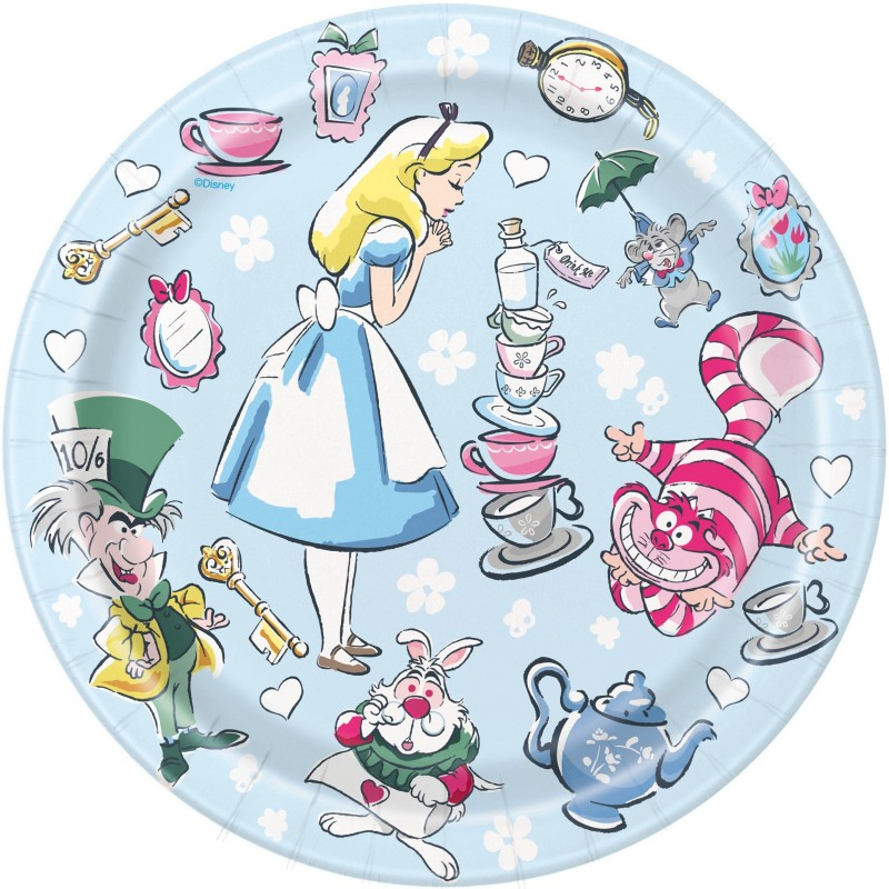 Alice in Wonderland Small Plates (Pack of 8)
