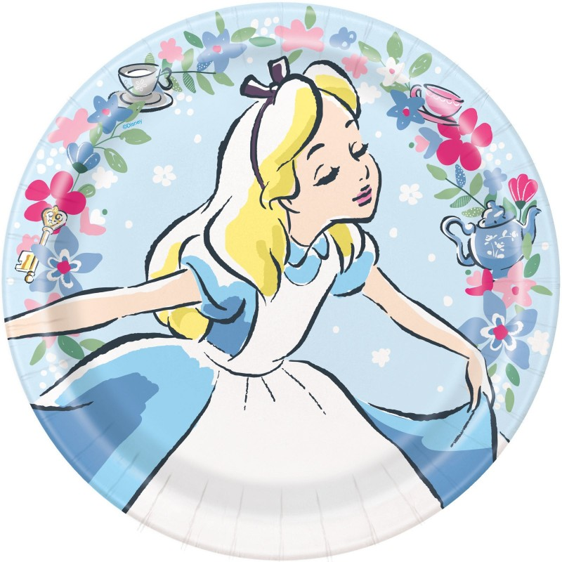 Alice in Wonderland Large Plates (Pack of 8)