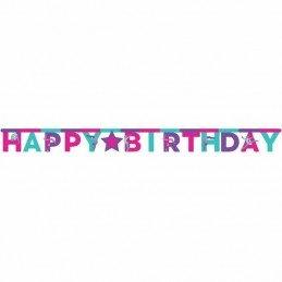 Gymnastics Party Birthday Banner