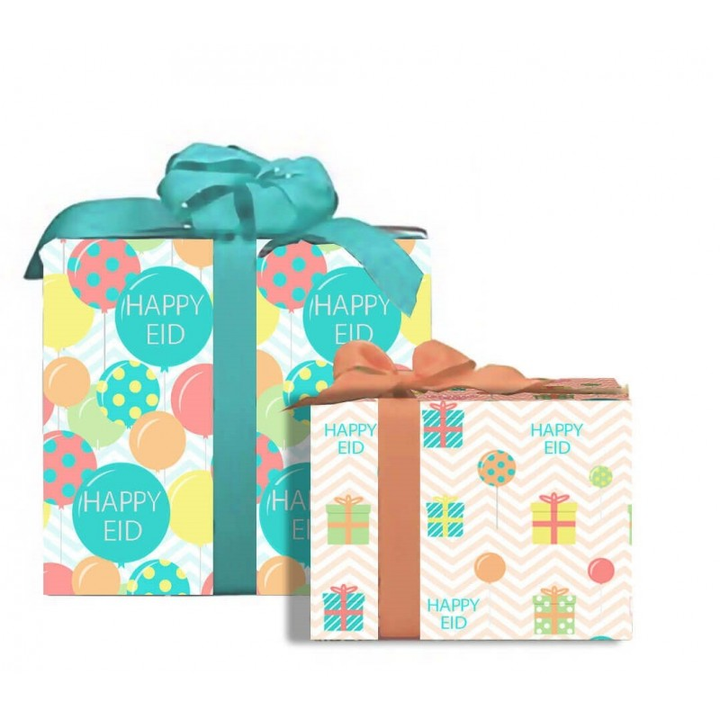 Eid Mubarak Happy Eid Gift Wrap (Set of 2)