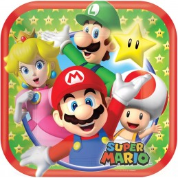 Super Mario Small Plates (Pack of 8)