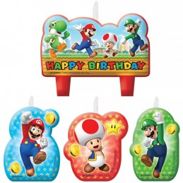 Super Mario Candles (Set of 4)