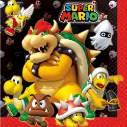 Super Mario Large Napkins (Pack of 16)