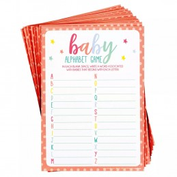 Baby Shower Alphabet Game (Set of 24)