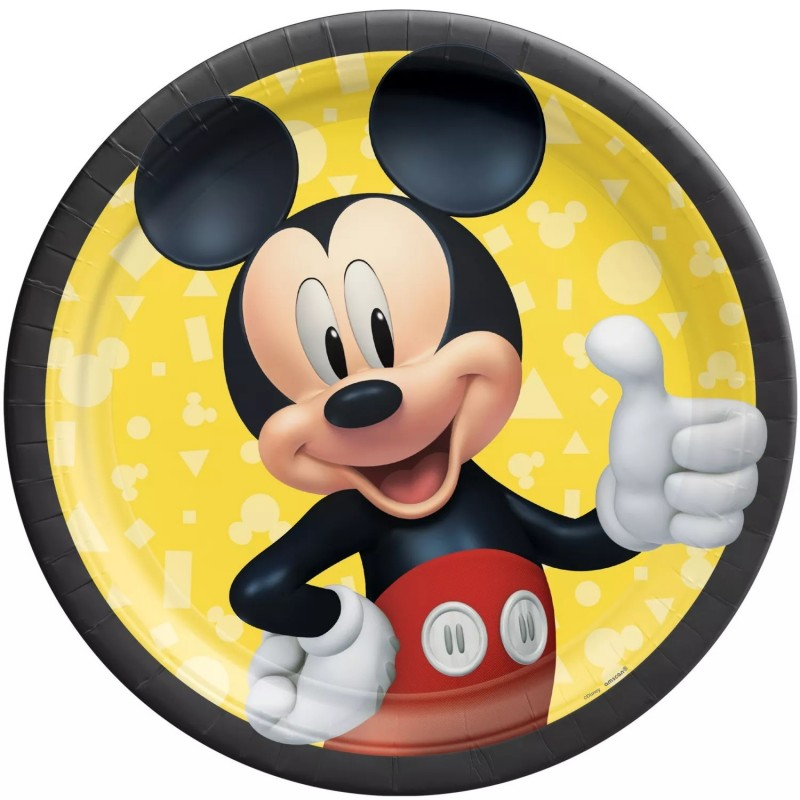 Mickey Mouse Large Plates (Pack of 8)