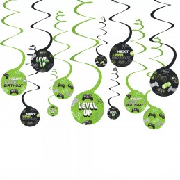Level Up Gaming Hanging Swirls (Set of 12)