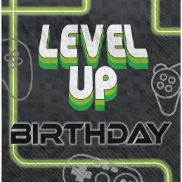 Level Up Gaming Large Napkins (Pack of 16)