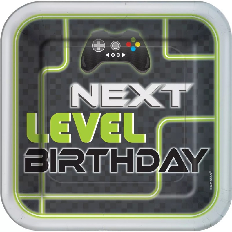 Level Up Gaming Large Plates (Pack of 8)