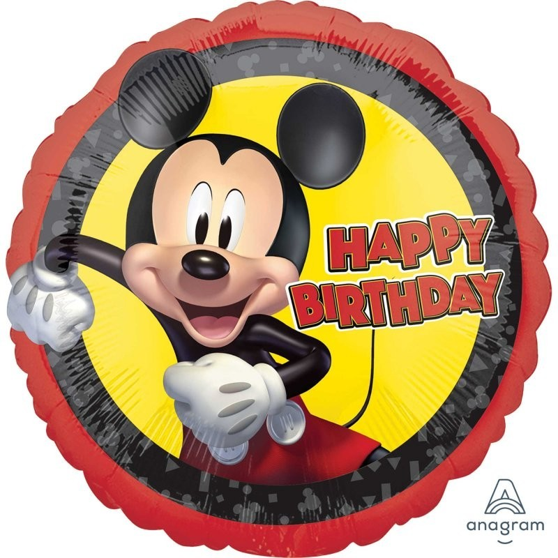 Happy Birthday Forever Mickey Mouse Foil Balloon