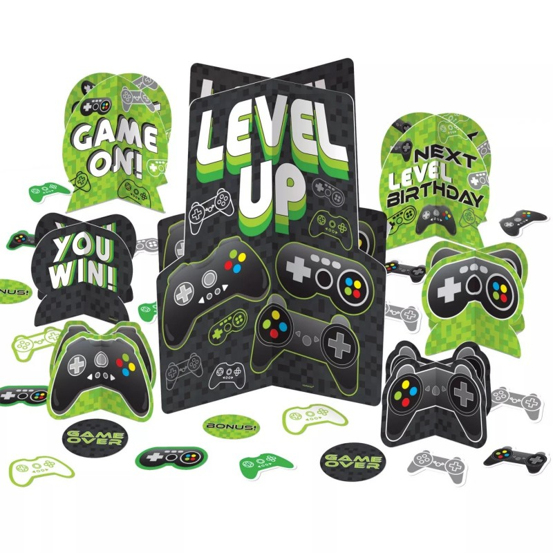 Level Up Gaming Table Decorating Kit (27 Piece)