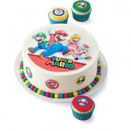 Wilton Super Mario Cake Image Topper (Set of 9)