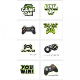 Level Up Gaming Tattoos (Set of 8)