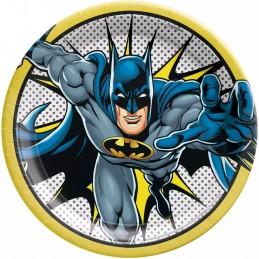 Heroes Unite Batman Large Plates (Pack of 8)