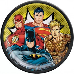 Justice League Large Plates (Pack of 8) | Justice League Party Supplies