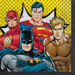 Justice League Large Napkins (Pack of 16) | Justice League Party Supplies