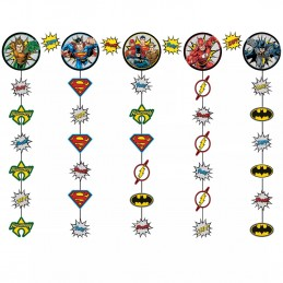 Justice League Hanging String Decorations Kit | Justice League Party Supplies