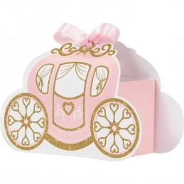 Glitter Princess Carriage Favour Boxes (Set of 8) | Disney Princess Party Supplies