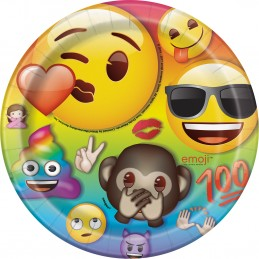 Rainbow Emoji Small Plates (Pack of 8)