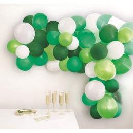 Green and White Balloon...
