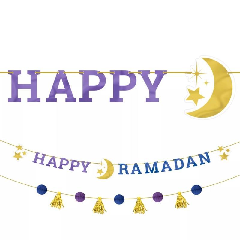 Happy Ramadan Jumbo Banner Kit   Ramadan/Eid Party Supplies