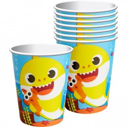 Baby Shark Paper Cups (Pack of 8) | Baby Shark Party Supplies
