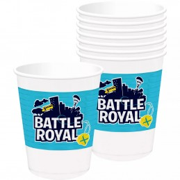 Battle Royal Fortnite Large Plastic Cups (Pack of 8)