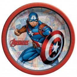 Avengers Unite Captain America Small Plates (Pack of 8)