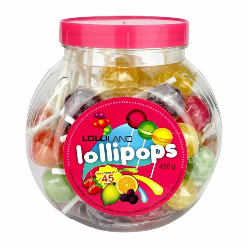 Coloured Lollipops (45 Pieces)