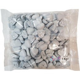White Foiled Chocolate Hearts (1kg)