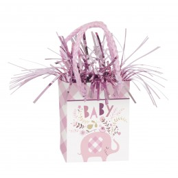 Pink Baby Elephant Balloon Weight