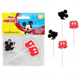 Mickey Mouse Cupcake Picks (Pack of 24)   Mickey Mouse Party Supplies