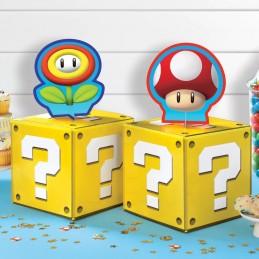 Super Mario Power Up & Question Block Table Centrepieces (Set of 4) | Super Mario Party Supplies