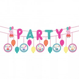 Glitter Peppa Pig Party Banners (Set of 2)
