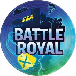 Battle Royal Fortnite Large Plates (Pack of 8)