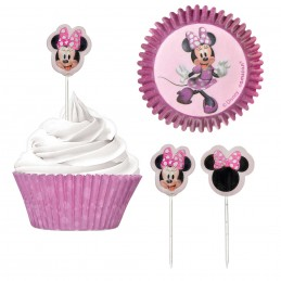 Minnie Mouse Cupcake Decorating Kit (Set of 48) | Minnie Mouse Party Supplies