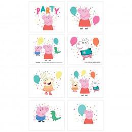 Peppa Pig Tattoos (Set of 8)