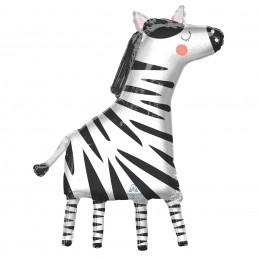 Get Wild Zebra Foil Balloon