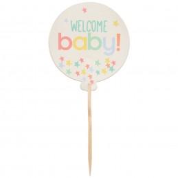 Welcome Baby Cupcake Picks (Set of 24)