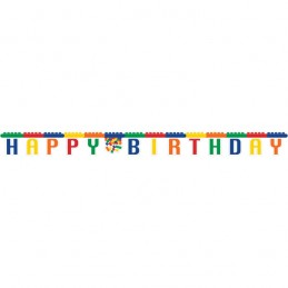 Block Party Happy Birthday Banner   Lego Party Supplies