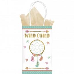Boho Birthday Girl Kraft Paper Bags (Set of 8)