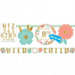 Boho Birthday Girl Banner Kit