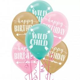 Boho Birthday Girl Latex Balloons