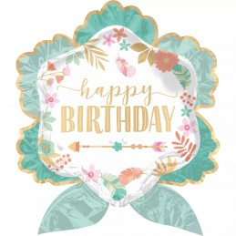 Boho Birthday Girl Giant Foil Balloon