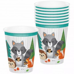 Woodland Animals Paper Cups (Pack of 8) | Woodland Animals Party Supplies