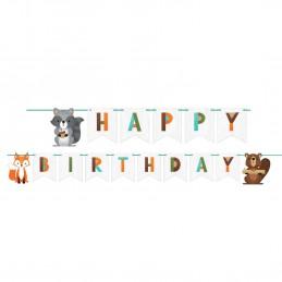 Woodland Animals Happy Birthday Banner | Woodland Animals Party Supplies
