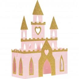 3D Glitter Princess Castle Centrepiece | Disney Princess Party Supplies